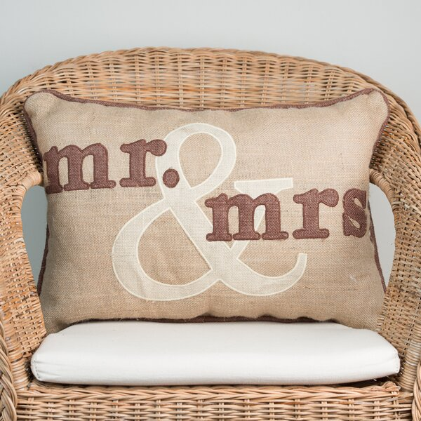 Mr. and Mrs. Throw Pillow by Glory Haus