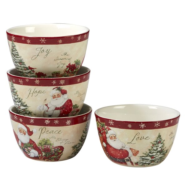 Gianna 4 Piece 24 oz. Dessert Bowl Set by The Holiday Aisle