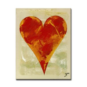 Zane Heartwork Bailee  Painting Print on Wrapped Canvas by Ready2hangart