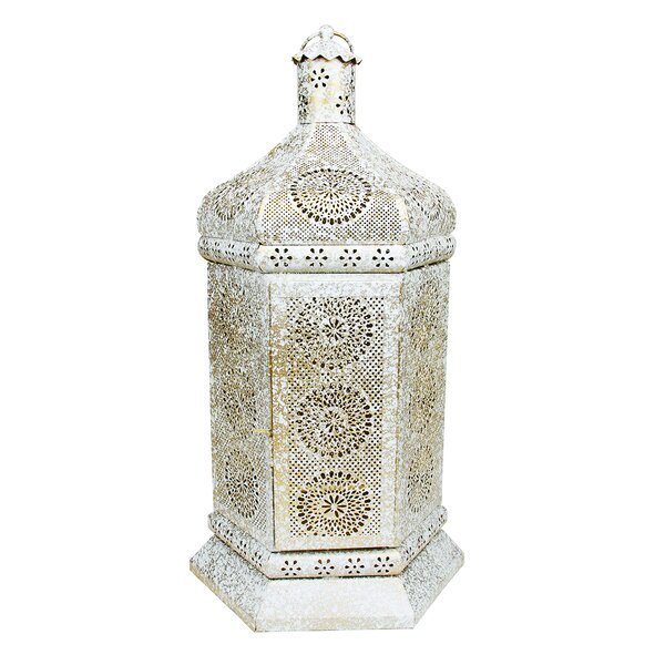 Moroccan Floral Cut-Out Metal Lantern by Northlight Seasonal