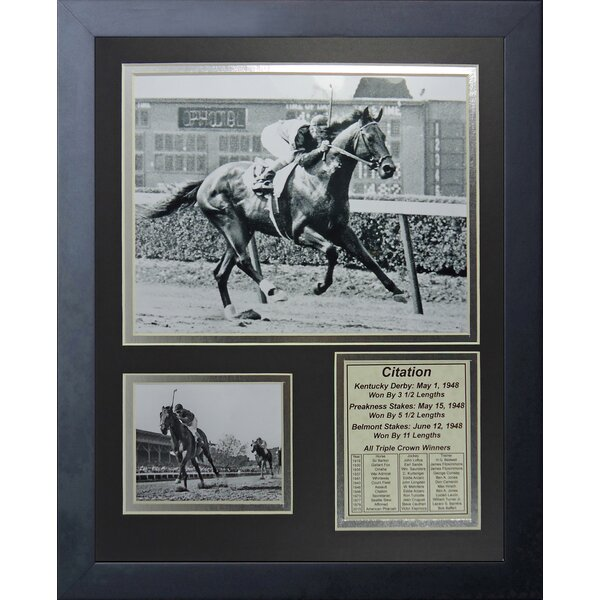 Citation - 1948 Triple Crown Winner Framed Memorabilia by Legends Never Die