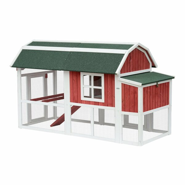 Gerke Barn Backyard Chicken Coop with Covered Run and Nesting Box by Tucker Murphy Pet