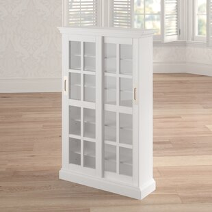 Sliding Door Multimedia Cabinet in White