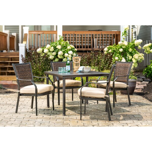 Burciaga 5 Piece Patio Dining Set with Cushions by Darby Home Co