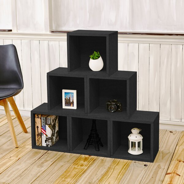 Daniell Stackable Organizer Cube Unit Bookcase (Set of 6) by Mercury Row