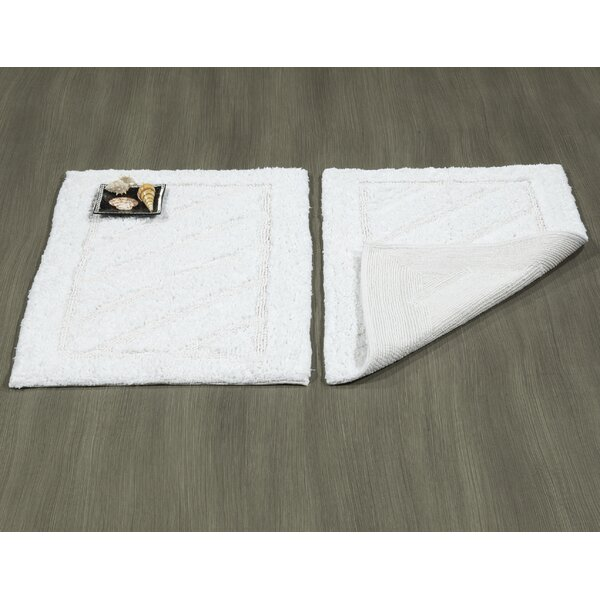 Ruby Super-Soft Hand-Tufted Natural Cotton Bath Rugs (Set of 2) by Berrnour Home