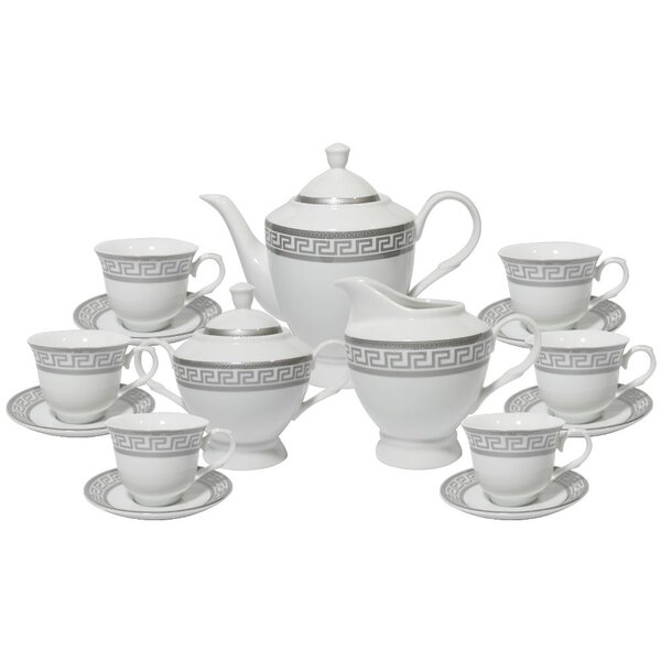 Greek 49 Piece Dinnerware Set, Service for 8 by Imperial Gift Co.