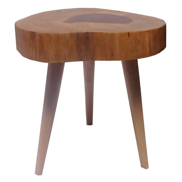 Perla Teak Accent Stool by Union Rustic