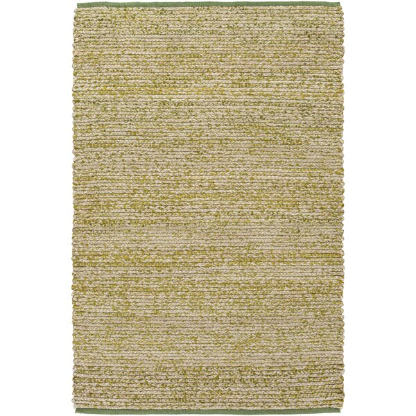 Anna Hand-Woven Green/Beige Area Rug by Winston Porter