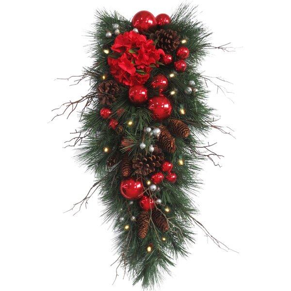 Decorative Pre-Lit Hydrangea Teardrop by National Tree Co.