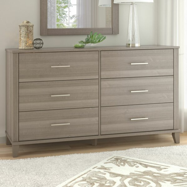 #1 Kirchoff 6 Drawer Double Dresser By Ebern Designs Herry Up