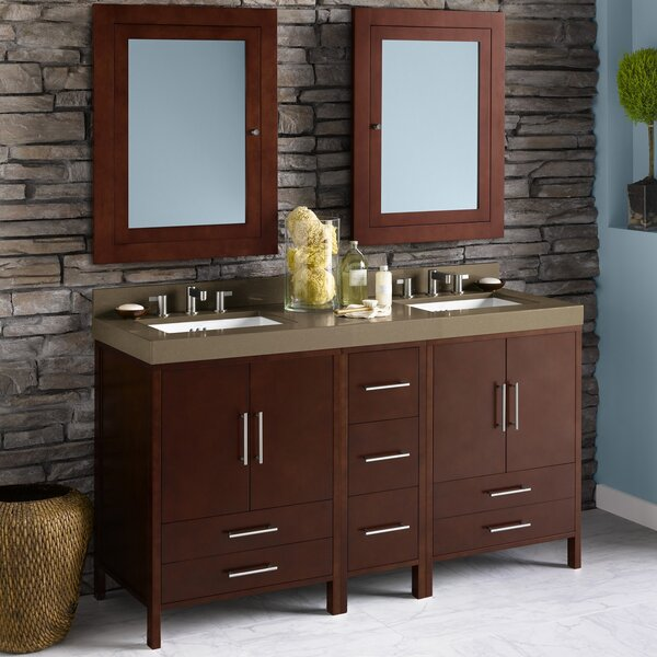 Juno 61 Double Bathroom Vanity Set by Ronbow