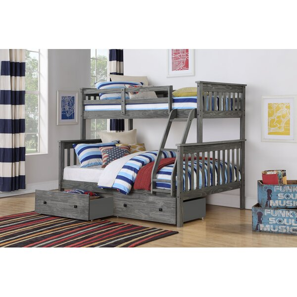 Dubbo Twin Over Full Bunk Bed with Drawers by Harriet Bee