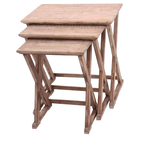Cheyenne 3 Piece Nesting Table Set by Crestview Collection