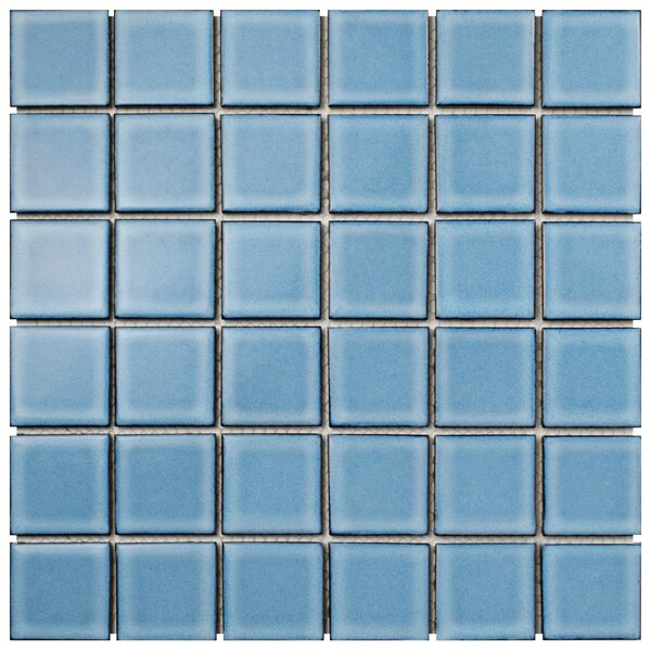 Waterfalll 2 x 2 Porcelain Mosaic Tile in Caribbean by EliteTile