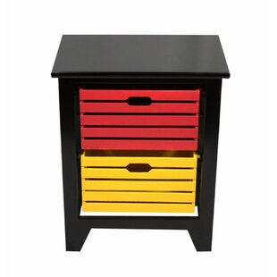 Reviews Grote Vibrant 2 Drawer Storage Chest By Ebern Designs