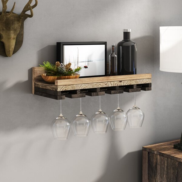 Oconner Wall Mounted Wine Glass Rack by Union Rustic
