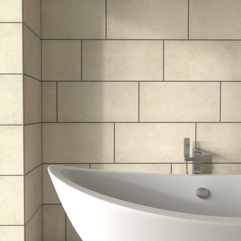 Pixl Citified 2 X 6 Porcelain Subway Tile In Cotton Wayfair