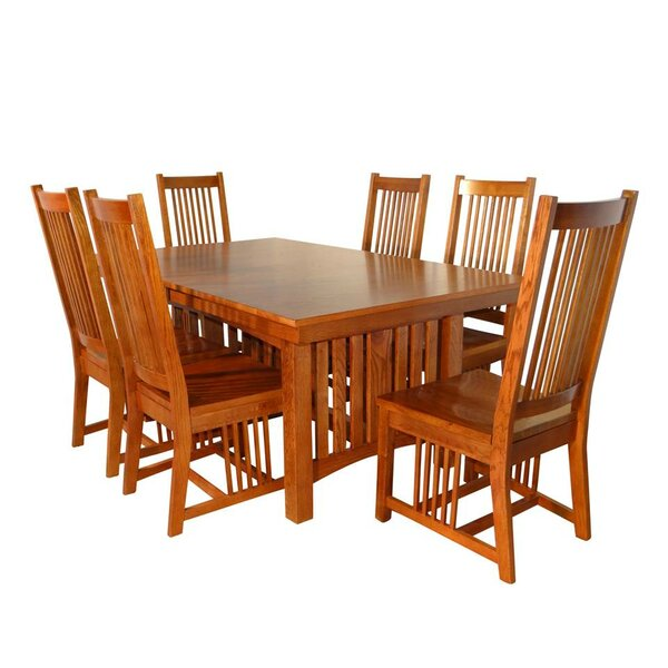 Neff Mission 7 Piece Extendable Solid Wood Dining Set by Canora Grey