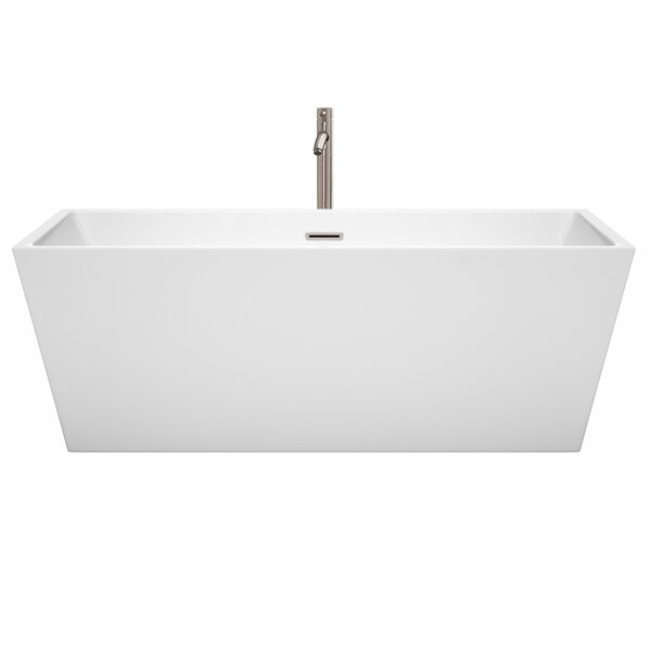 Sara 67 x 31.5 Freestanding Soaking Bathtub by Wyndham Collection