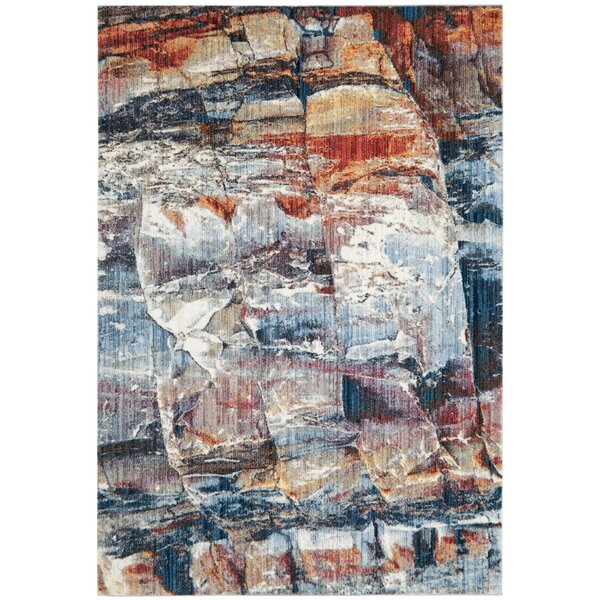 Foresta Abstract Blue/Red Area Rug by Trent Austin Design