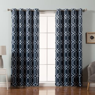 curtain white pier curtains trellis flocked grommet black imports