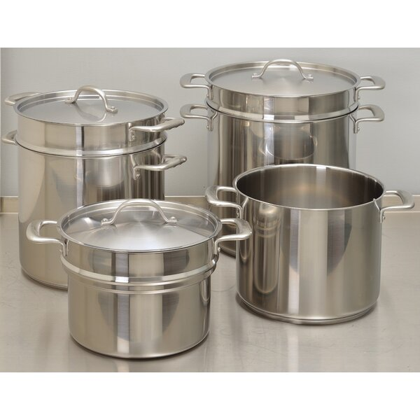 Double Boiler Stock Pot with Lid by Update International