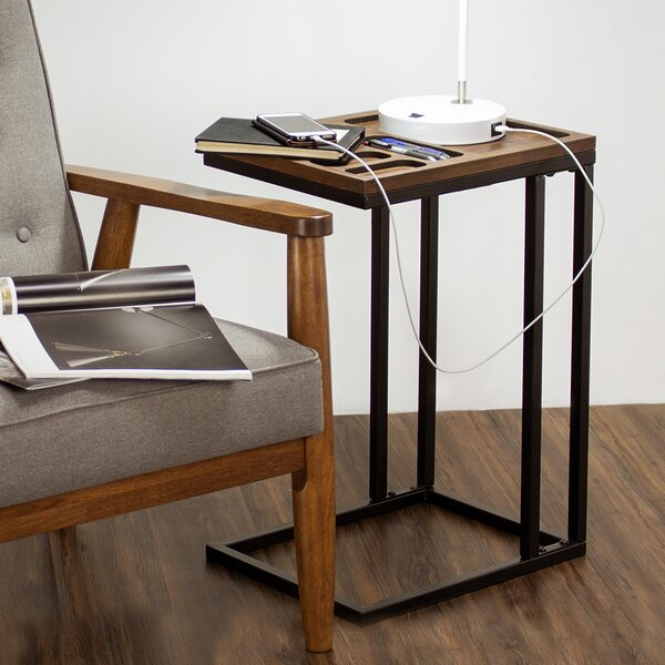 Decor Furniture Wood and Metal C Style End Table by 17 Stories 17 Stories