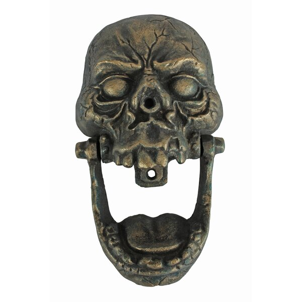 Knock-Jaw Skull Cast Iron Door Knocker by Design Toscano