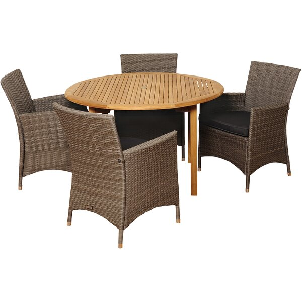 Brighton 5 Piece Dining Set with Cushions by Sol 72 Outdoor