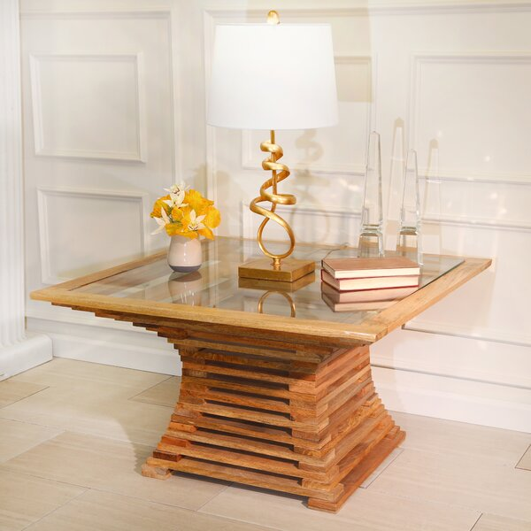 Atmore Slatted Wood Coffee Table By Foundry Select
