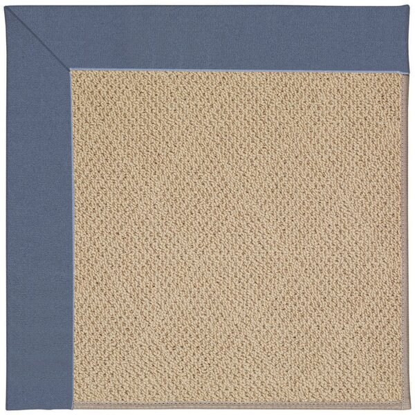 Lisle Machine Tufted Azure/Brown Indoor/Outdoor Area Rug by Longshore Tides