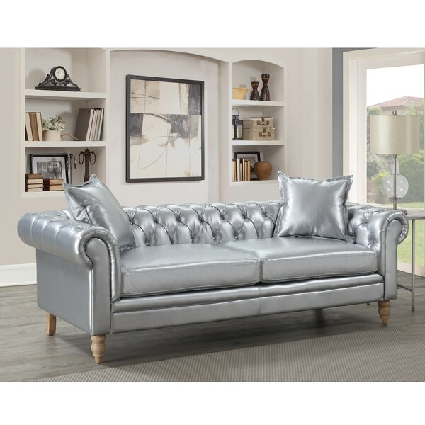 Lantz Button Tufted Chesterfield Sofa by House of Hampton