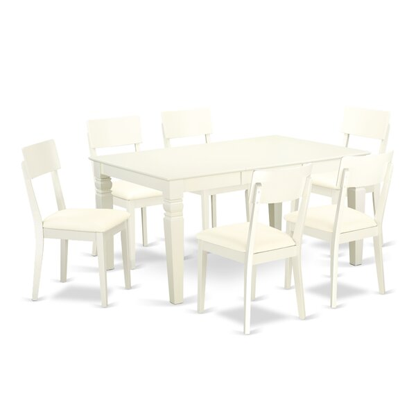 Belcourt 7 Piece Solid Wood Dining Set by Darby Home Co
