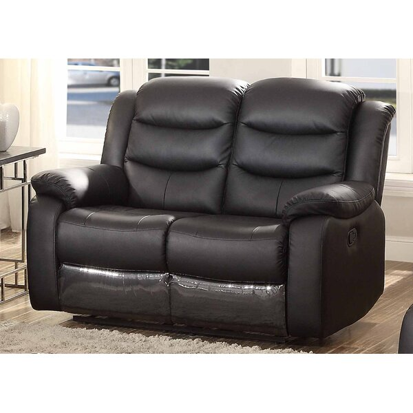 Discover Outstanding Designer Bennett Leather Reclining Loveseat by AC Pacific by AC Pacific