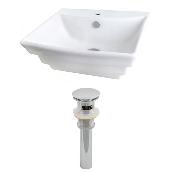 Ceramic 20 Wall Mount Bathroom Sink with Overflow by Royal Purple Bath Kitchen