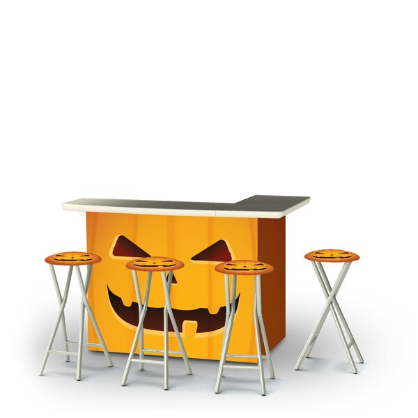 Wombwell Halloween Jack O Lantern 5-Piece Bar Set by East Urban Home