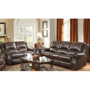 Algona 2 Piece Leather Reclining Living Room Set by Canora Grey
