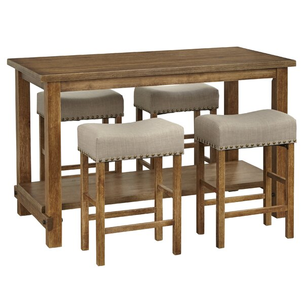 Hendina 5 Piece Solid Wood Table Set By Gracie Oaks
