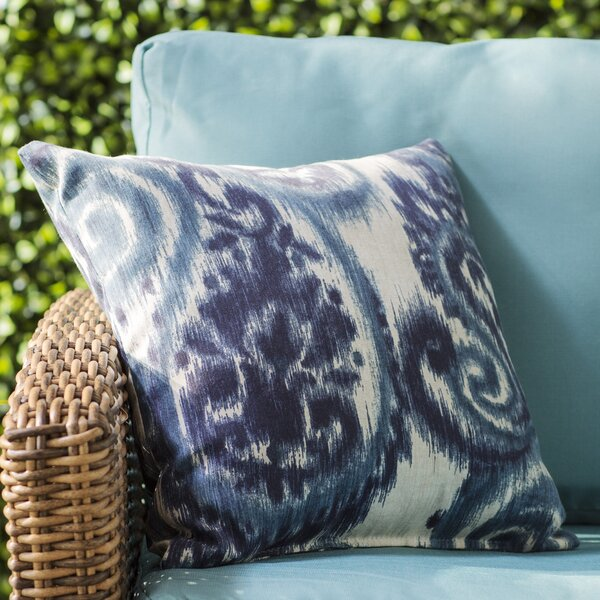 Paisley Indoor/Outdoor Throw Pillow by Three Posts
