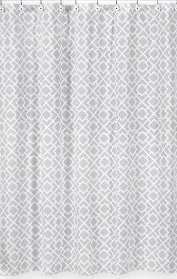 Diamond Cotton Shower Curtain by Sweet Jojo Designs