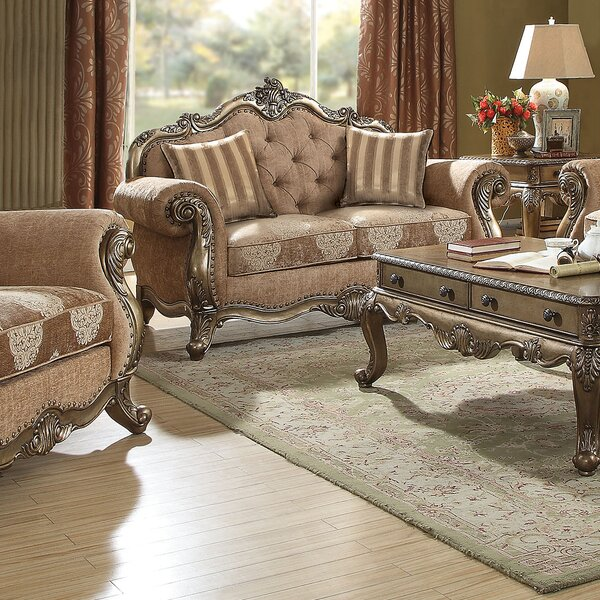 Shop Fashion Welling Traditional Loveseat by Astoria Grand by Astoria Grand
