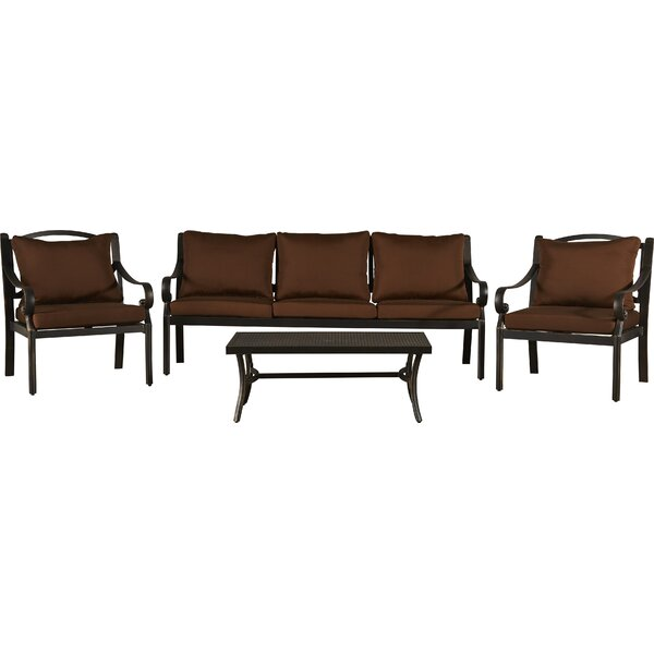 Dominque 4 Piece Sofa Seating Group with Cushions by Darby Home Co
