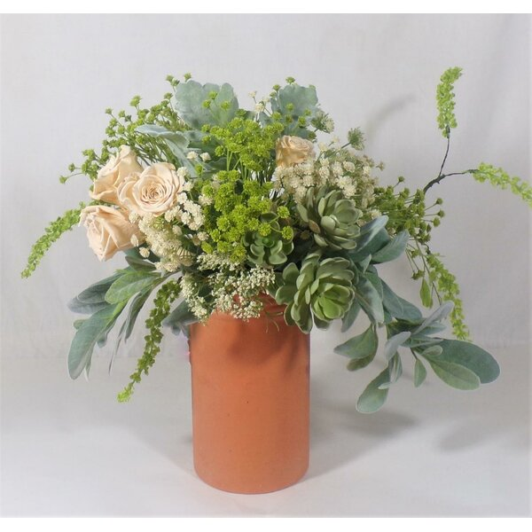 Nuvo Riche Mixed Floral Arrangement in Vase by Gracie Oaks