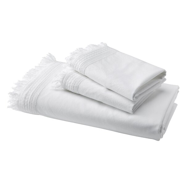 Laflamme 200 Thread Count Fitted Sheet by Mistana