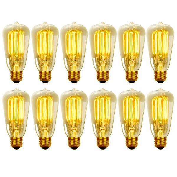60W E26 Medium Incandescent Light Bulb (Set of 12) by Globe Electric Company