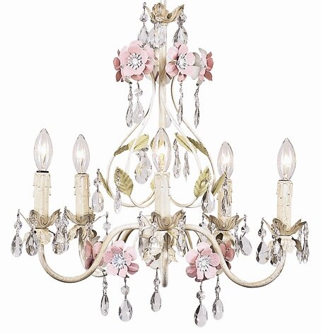 Flower Garden 5-Light Candle Style Chandelier by Jubilee Collection
