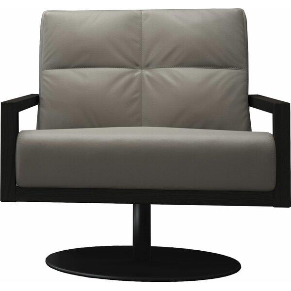 Clarkson Swivel Lounge Chair by Modloft Black