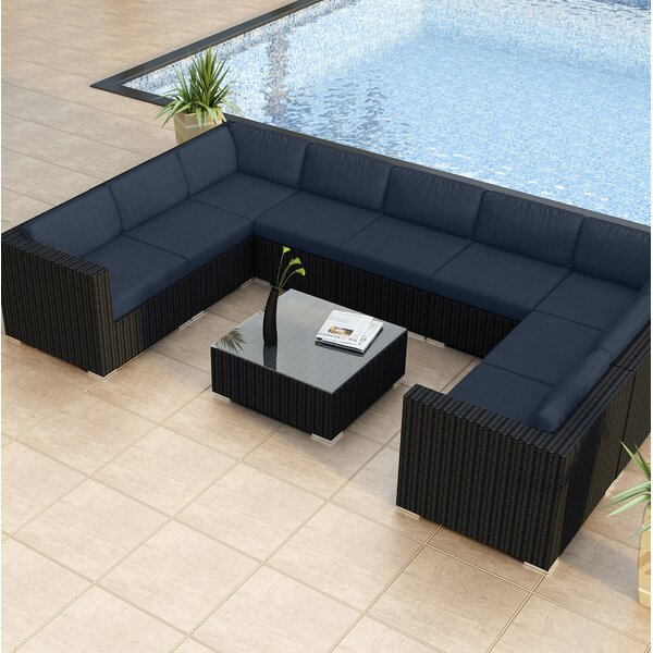 Azariah 10 Piece Surround Sectional Set with Cushions by Orren Ellis