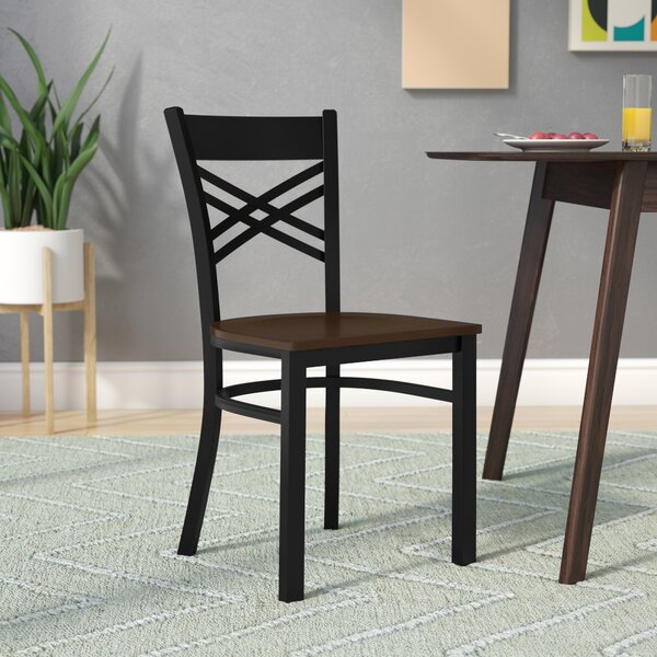 MacArthur Coated ''X'' Back Metal Restaurant Side Chair by Ebern Designs